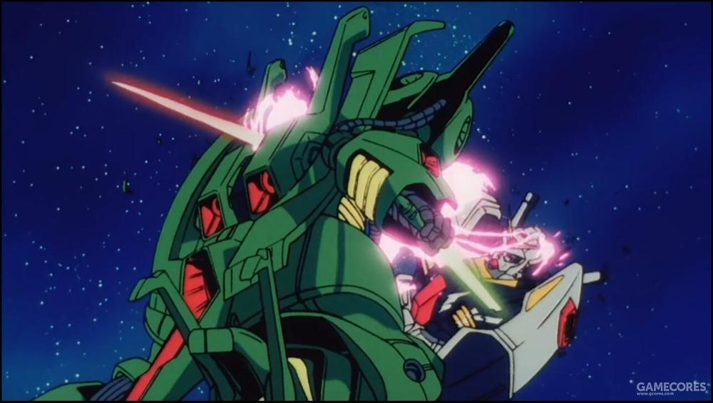 最终在与驾驶Gundam Mk II的爱玛·辛 (Emma Sheen) 交战中败北阵亡。单论性能,PMX-001显然在RX-178之上。最后败北的结果显然是源自驾驶员内心的迷茫。