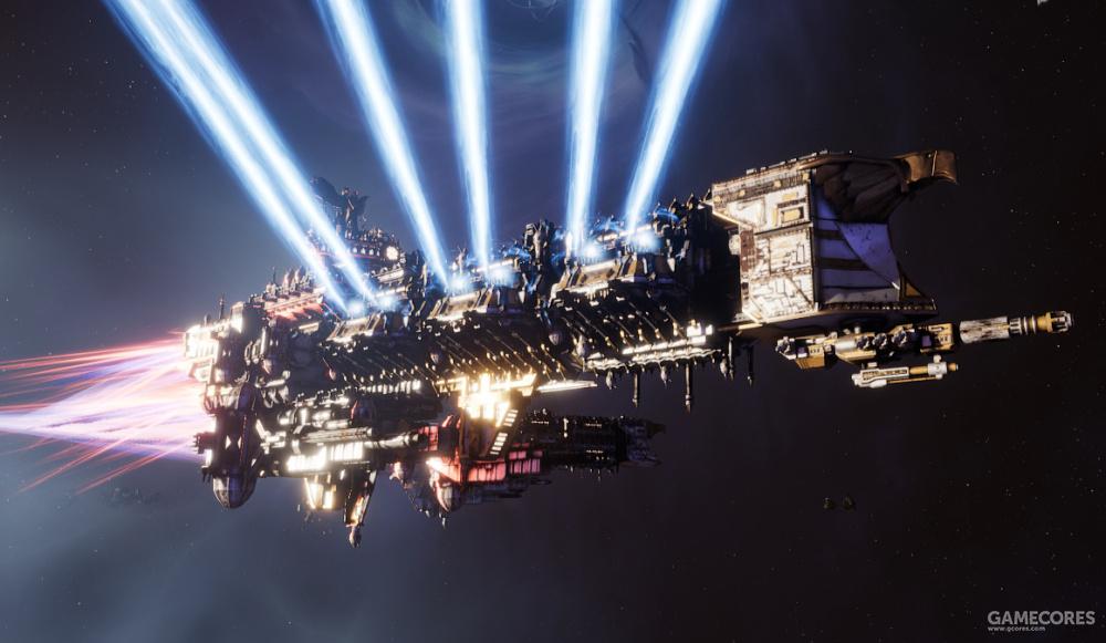 对战舰模型和艺术风格的还原是《哥特舰队》成功之处