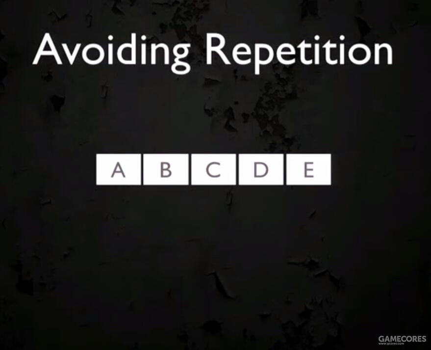 将5个选择随机打乱成 A、B、C、D、E,记为一组