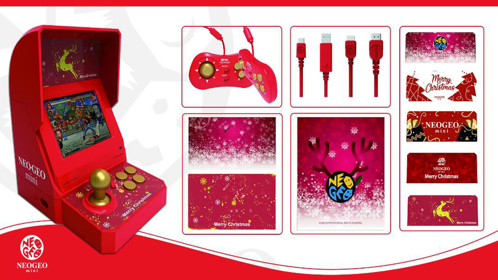 SNK推出NeoGeo mini圣诞限定版,全球限量15000台