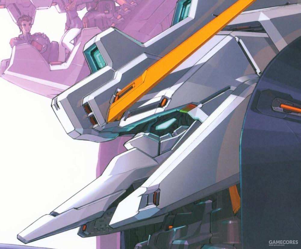 TR-1的实战证明Gundam系头部造型对于对手确实有一定震慑作用。因此TR-5除了V字天线外,后续改进中更是增加了颇有Gundam系风格的双眼传感器设计。