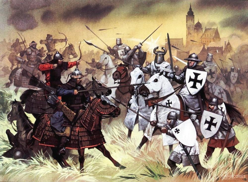 列格尼卡之战中的蒙古重骑兵,装备并不亚于条顿骑士
