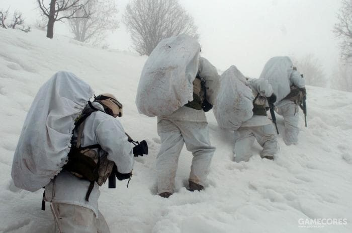 IDF特种登山队正在山上训练,以锻炼高海拔,低温环境下的战斗能力