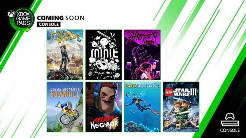 XGP主机游戏阵容更新,包含《天外世界》共七款游戏加入