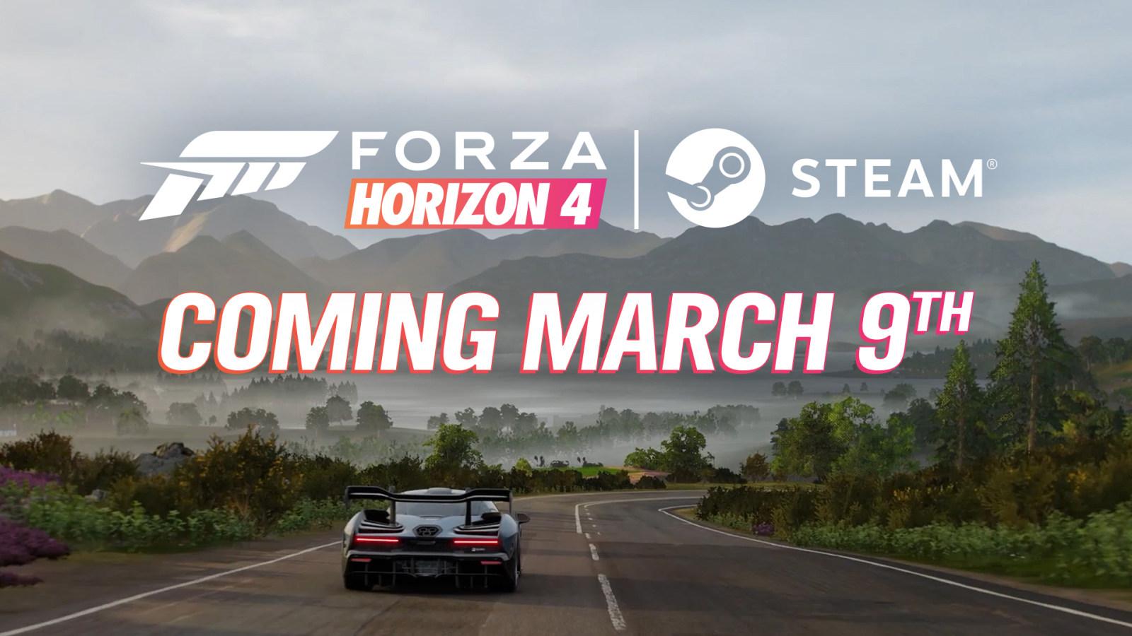 《极限竞速:地平线4》将于3月9日正式登陆Steam平台
