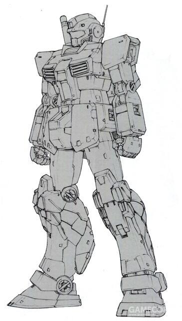 RGM-79FP的附加装甲和RGM-79FD一样,能够快速拆卸以便于维修。