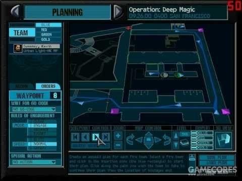 《彩虹六号》(1998,PC)战术布置画面