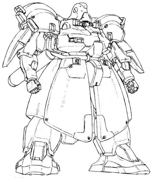 相同作品中出现的PMX-005设定上是基于The·OⅡ小型化设计而来的版本。 造型风格有典型的近藤和久先生风格的大裙甲设计。
