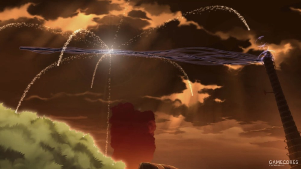 敌人在魔物之塔上击碎了众人的传送魔法,探索队员被冲的四散,末日之下星光点点。