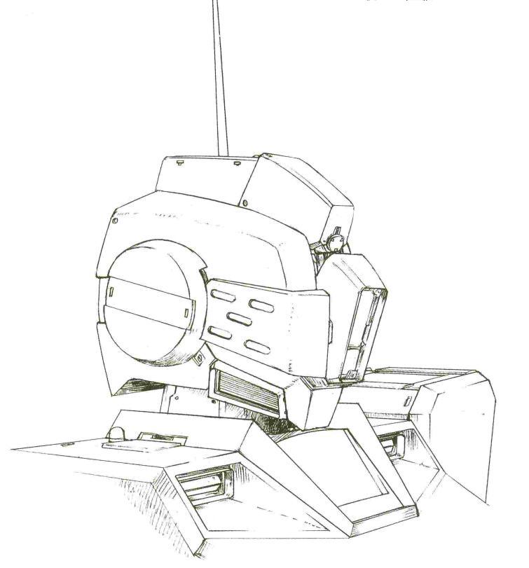 精密射击状态下,头部结构关闭,对物传感器降下,此时机体以观测视野角度为代价,观测距离大幅上升到8700米。
