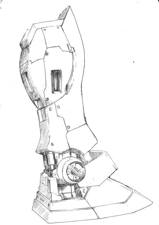 RGM-79G/GS小腿部位增加了额外的姿势控制推进器。使得机体拥有更为灵活的操控性。