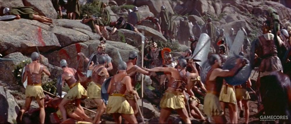 混战中雅典步兵包围了腓力二世