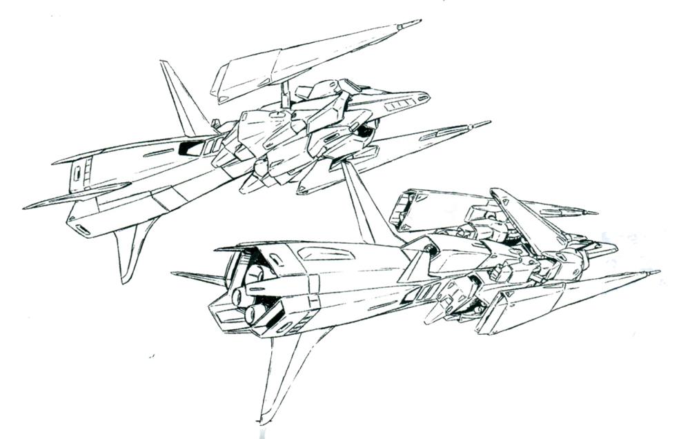 ORX-005执行拦截任务需要安装专用的大型助推器。安装助推器后,整机仿佛一枚以MA为弹头的巨型防空导弹。