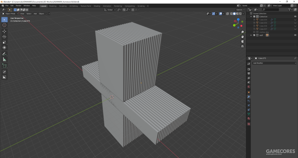 复制一堆方块。