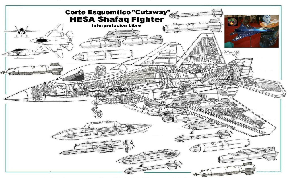 从结构图可看出,该机可挂载封闭式武器吊舱