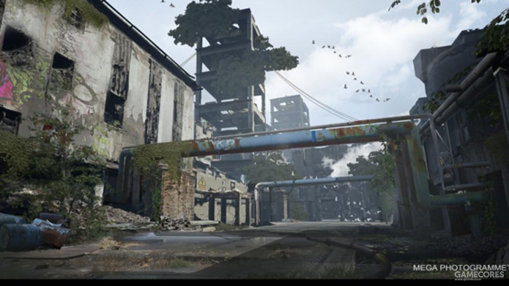 废弃工厂图