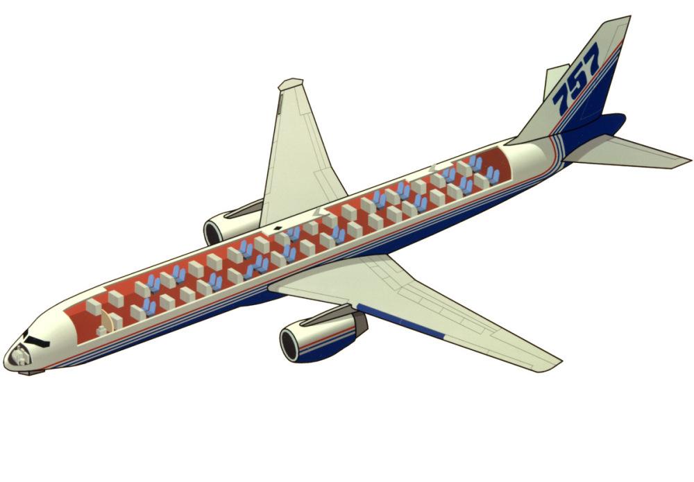 在这架波音757上,总计设置了33个仪器设备机箱与33名实验人员的坐席。