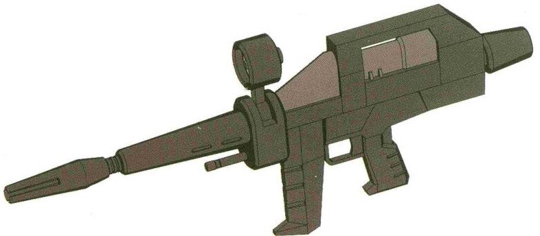 由Brash公司开发的XBR-M-79作为RX-78的标配武器,拥有极其可怕的威力与精度。不过其生产成本也极其高昂,并且,较高的功率要求使得核融炉功率较低的RGM-79标准型无法使用该武器