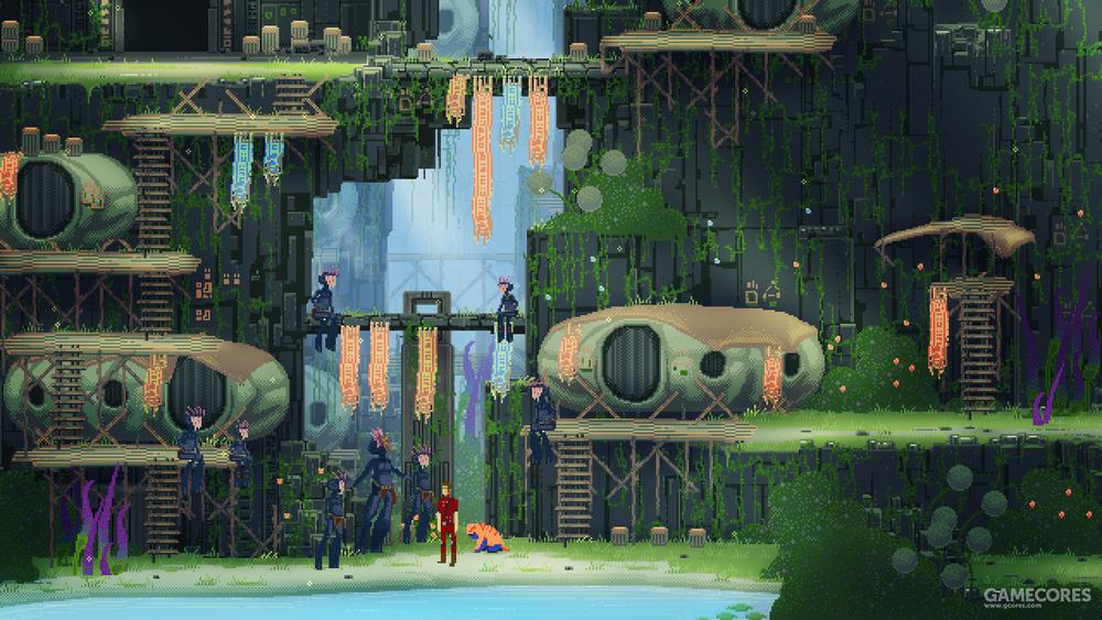 游戏的格局十分庞大,独身一人前往异星的孤独感伴随着整个流程。