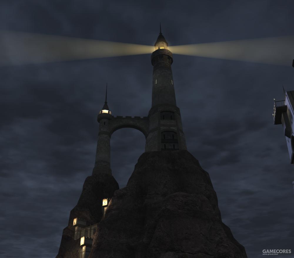 位于烽火领上的大灯塔,在乌尔达哈贸易开发期,烽火领灯塔引领了乌尔达哈的贸易船回港