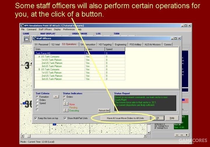 通过点击该按钮,一些参谋还可以为你执行特定的行动。