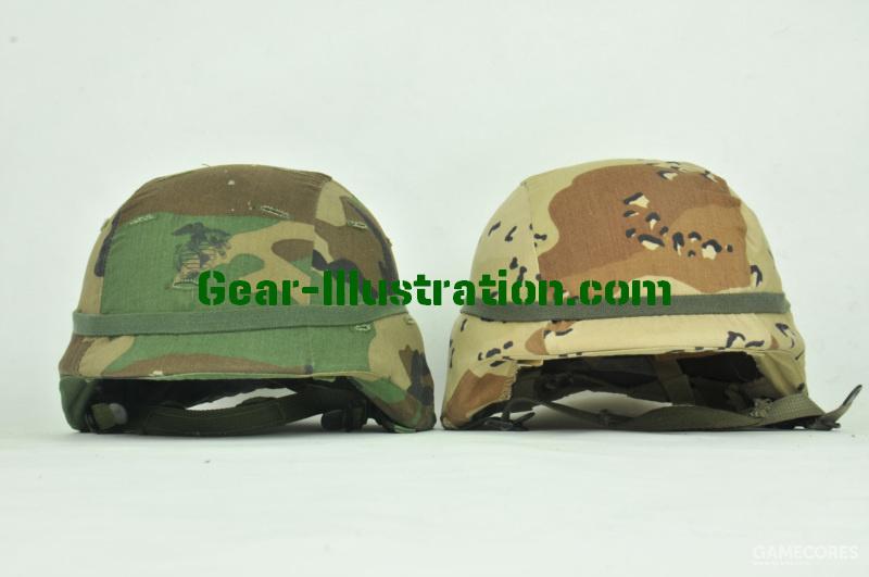 四丛和六沙迷彩盔罩