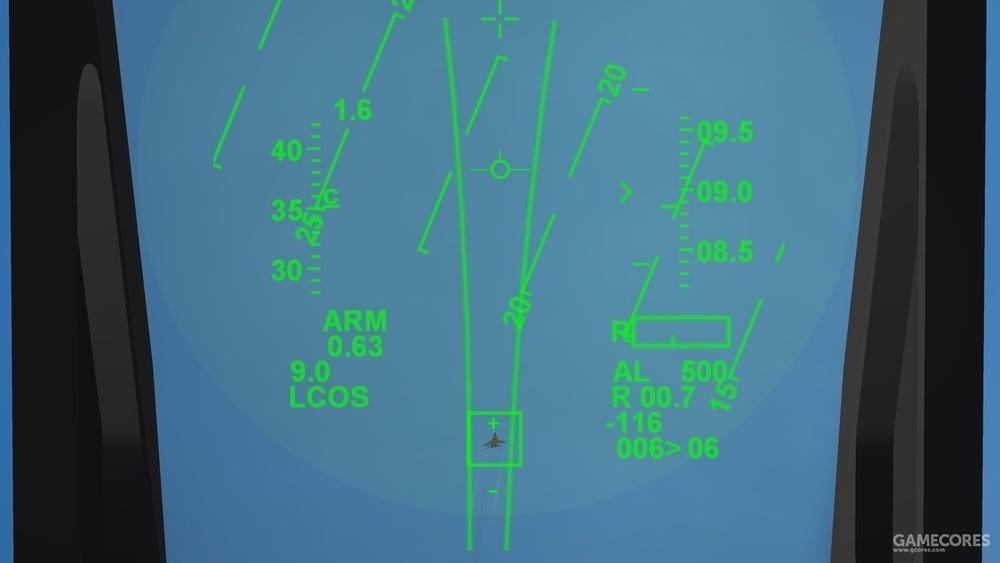 这是笔者在《攻击战斗机2》里驾驶F-16C和米格-29缠斗时的截图,当时正在将米格-29锁定在漏斗里