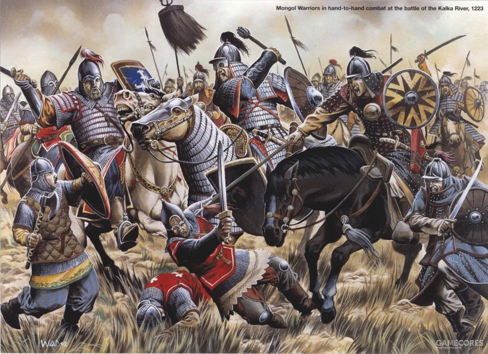 卡尔卡河之战中的蒙古重骑兵