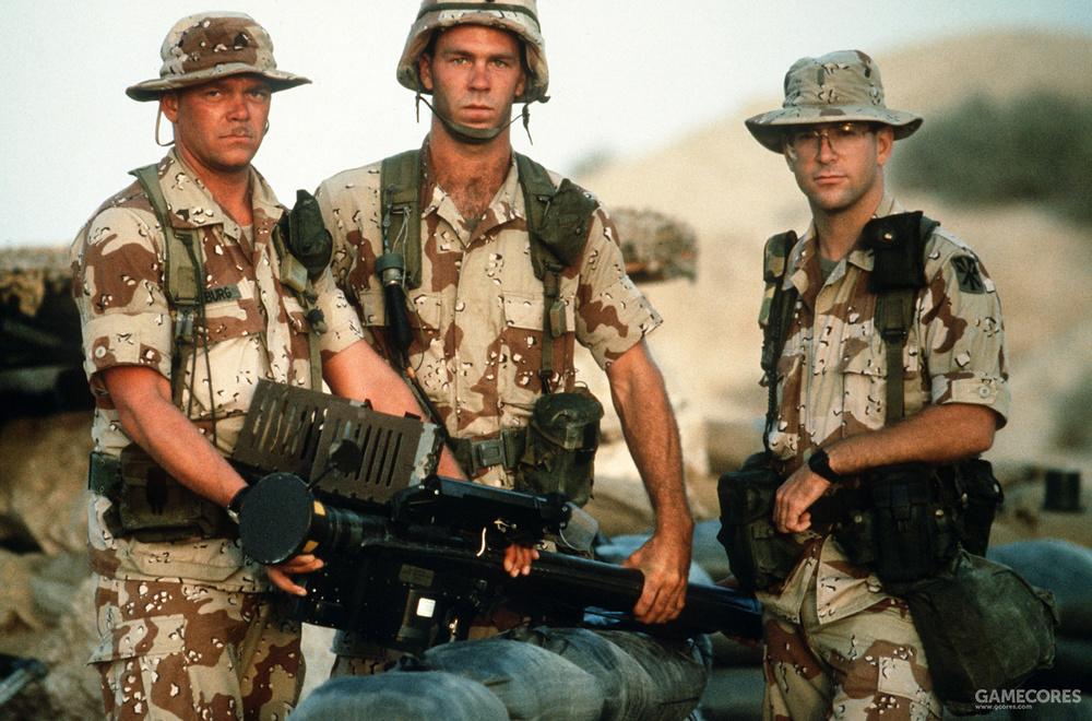 """陆军的一个""""毒刺""""防空导弹小组"""