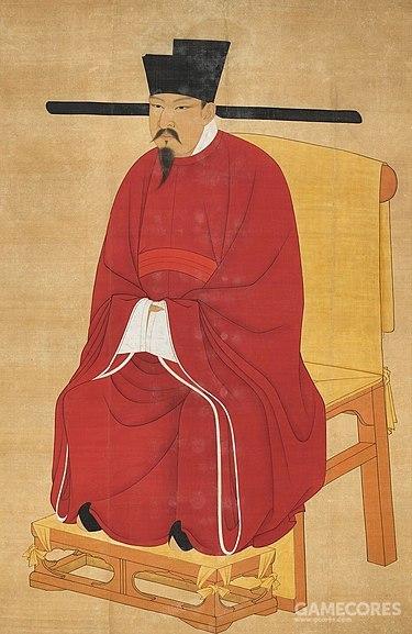 宋神宗画像,他本人对军事改革甚至比王安石还要热心