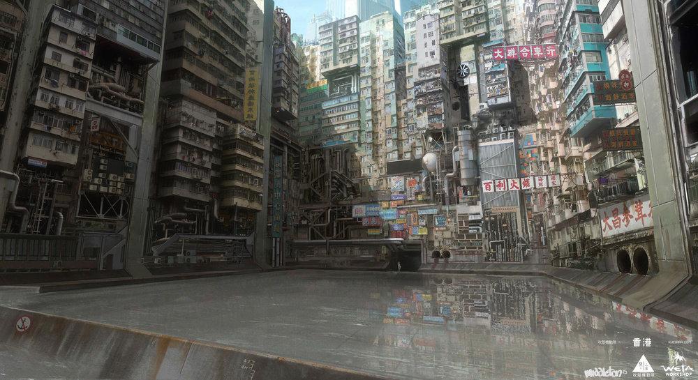 香港九龙城寨图_由《攻壳机动队》真人版,聊聊赛博朋克视觉元素 | 机核 GCORES