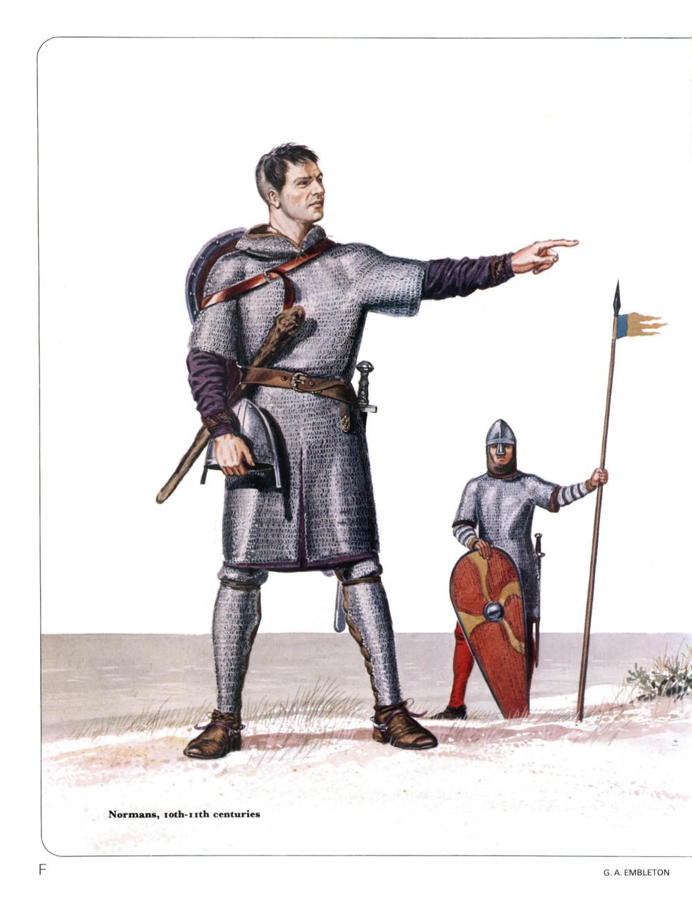 11世纪的诺曼骑士复原图