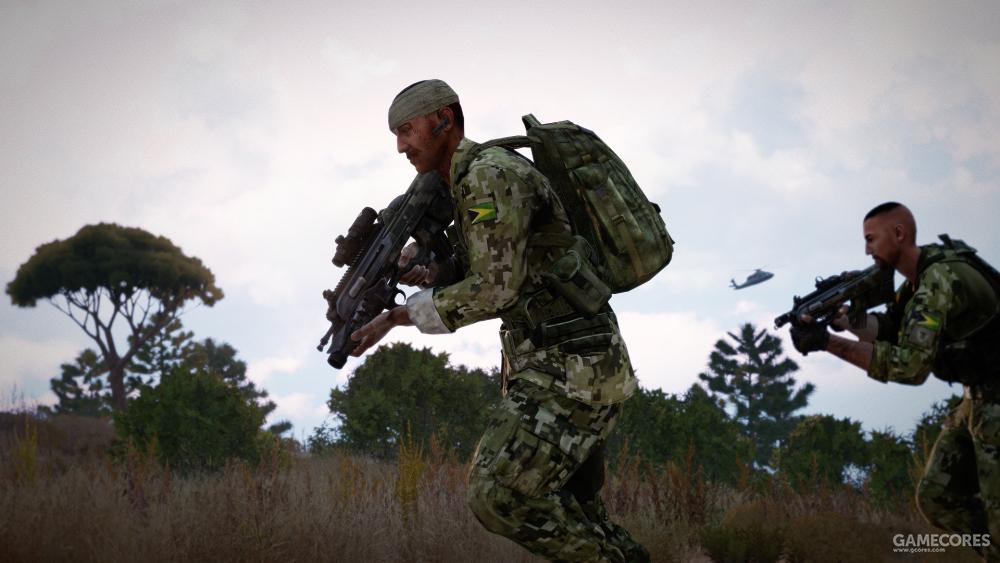 逃亡中的AAF士兵,他们都使用Mk20