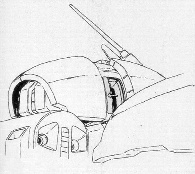 由于躯干部分设计了大型的变形关节。驾驶舱结构因此设计在了头部。MS形态时,驾驶员通过头部两侧舱门搭乘。