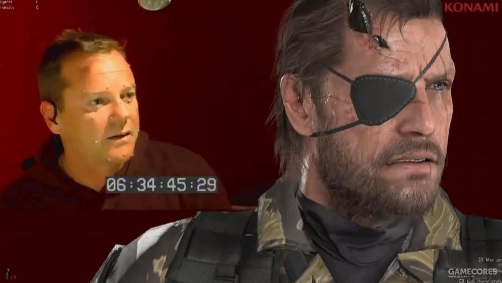 基弗·萨瑟兰在为角色Venom Snake进行配音+面部捕捉