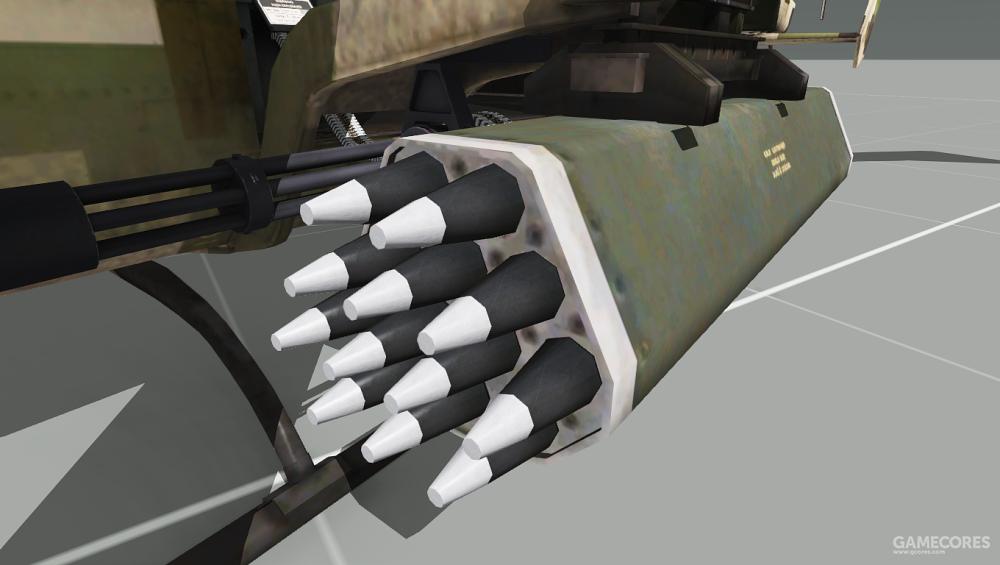 WY-55可以使用加特林机枪和火箭弹攻击目标
