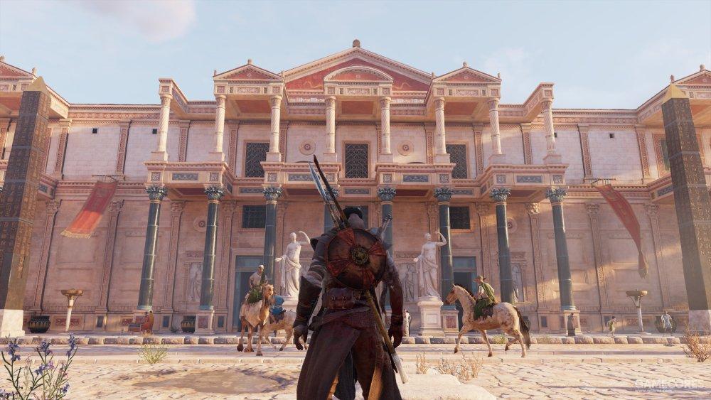 《刺客信条:起源》 亚历山大城图书馆  游戏截图   是不是很像呢