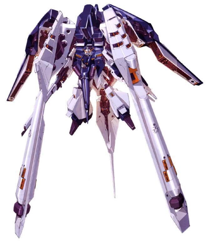 变形为MS形态后,除了附加组件上的光束炮外,还能使用MS本体携带的长刃步枪提供更为灵活的火力。