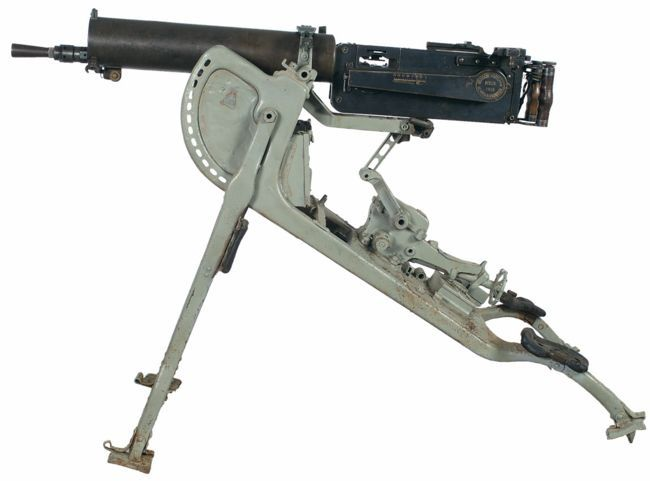MG08重机枪,它是马克沁机枪的发展版