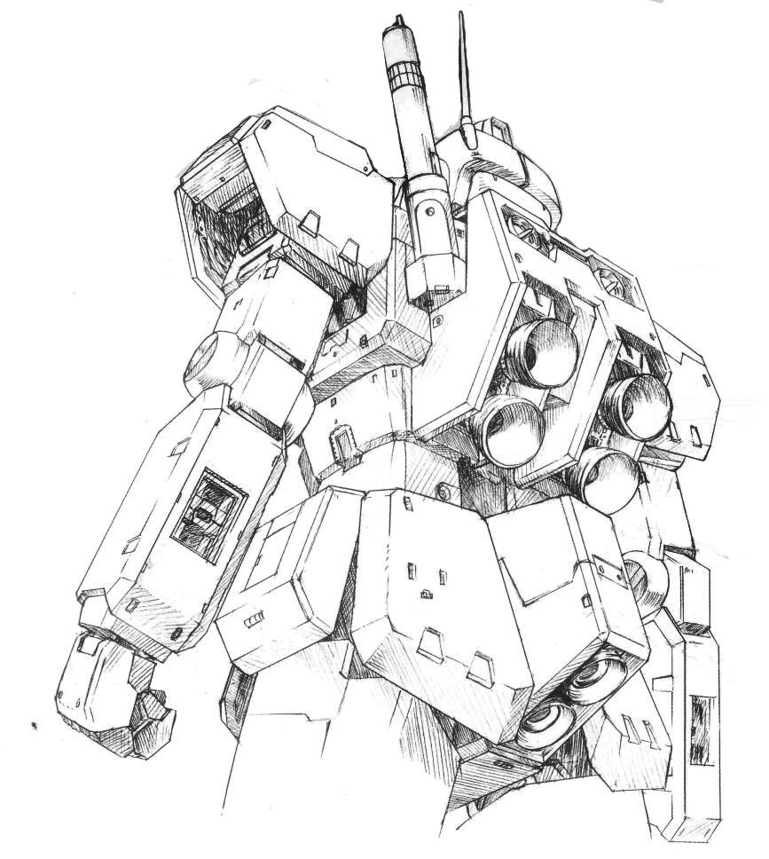作为简单有效的推力增强手段。RGM-79[E]型使用的四推进器式背包得以保留。而火箭推进器规格则使用了和RGM-79A/B型相同的标准。同时,月神2号之前难以生产的光束军刀得以配备。而来自RX-78系列学习电脑收集的数据使得该机摆脱了之前RGM-79[E]型操纵困难的缺陷。
