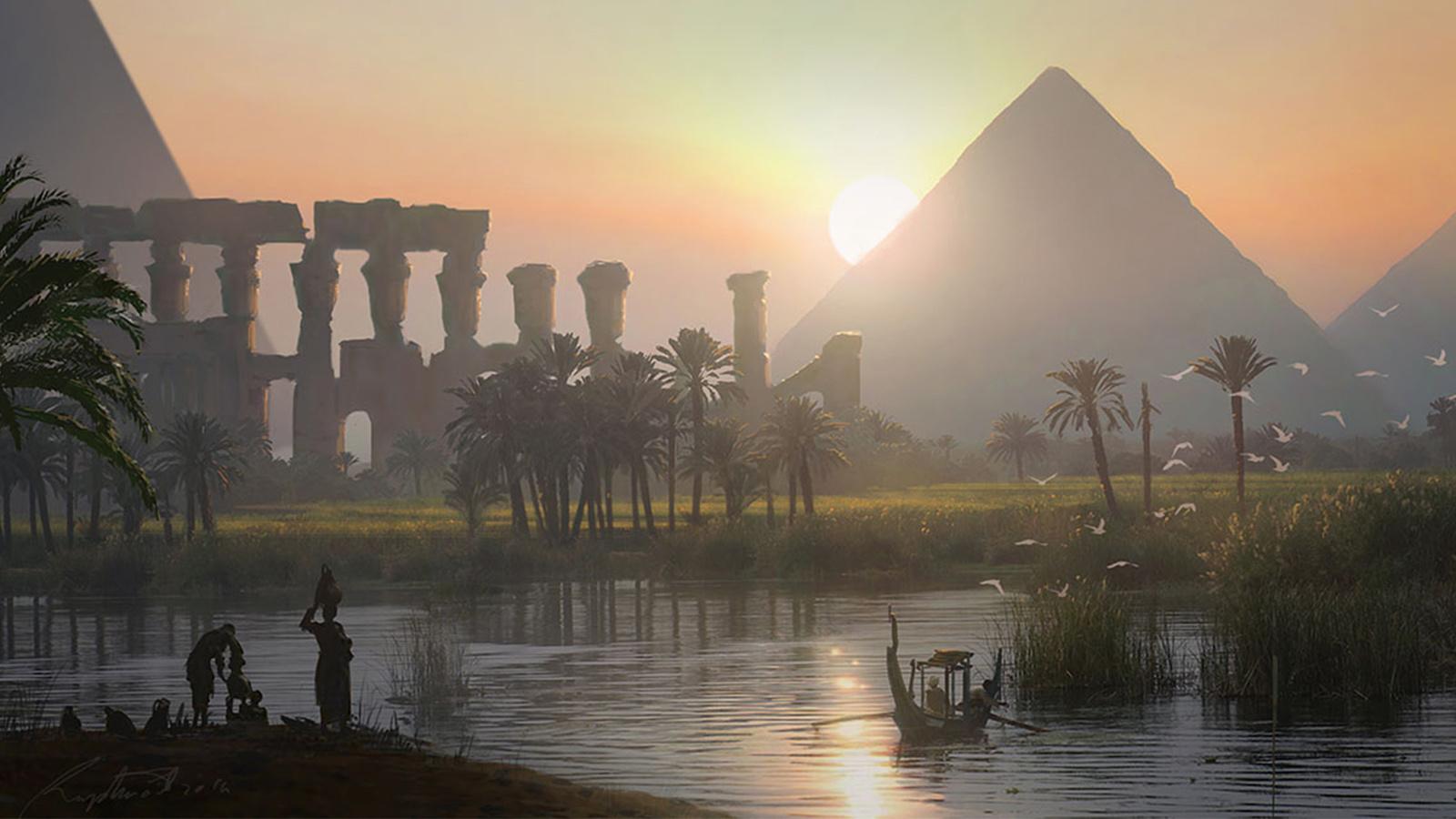 《刺客信條:起源》那些精美的古埃及概念設定圖