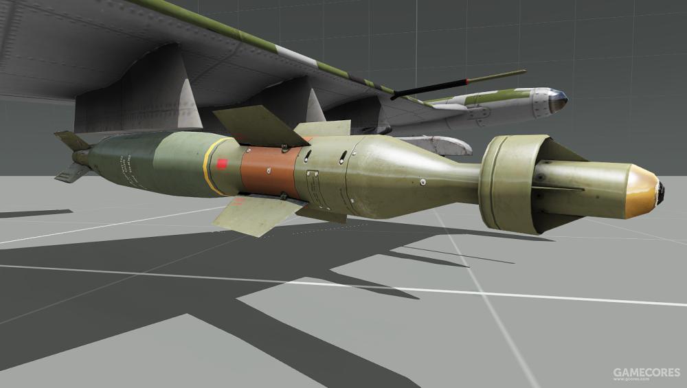 A-143翼下挂载的航弹