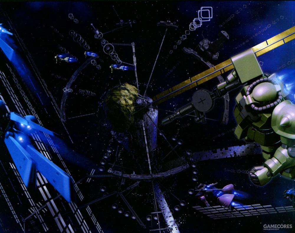 """""""荆棘之园""""建立在SIDE 5残骸形成的暗礁宇域中。由于卷入一年战争,SIDE 5的殖民卫星几乎全部损毁。密布的各种殖民卫星废墟和军用装备残骸成了在此活动的迪拉兹舰队最好的掩护。"""