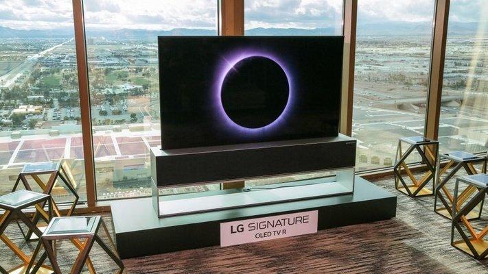 LG公布全球首款可卷式电视,预计今年内上市