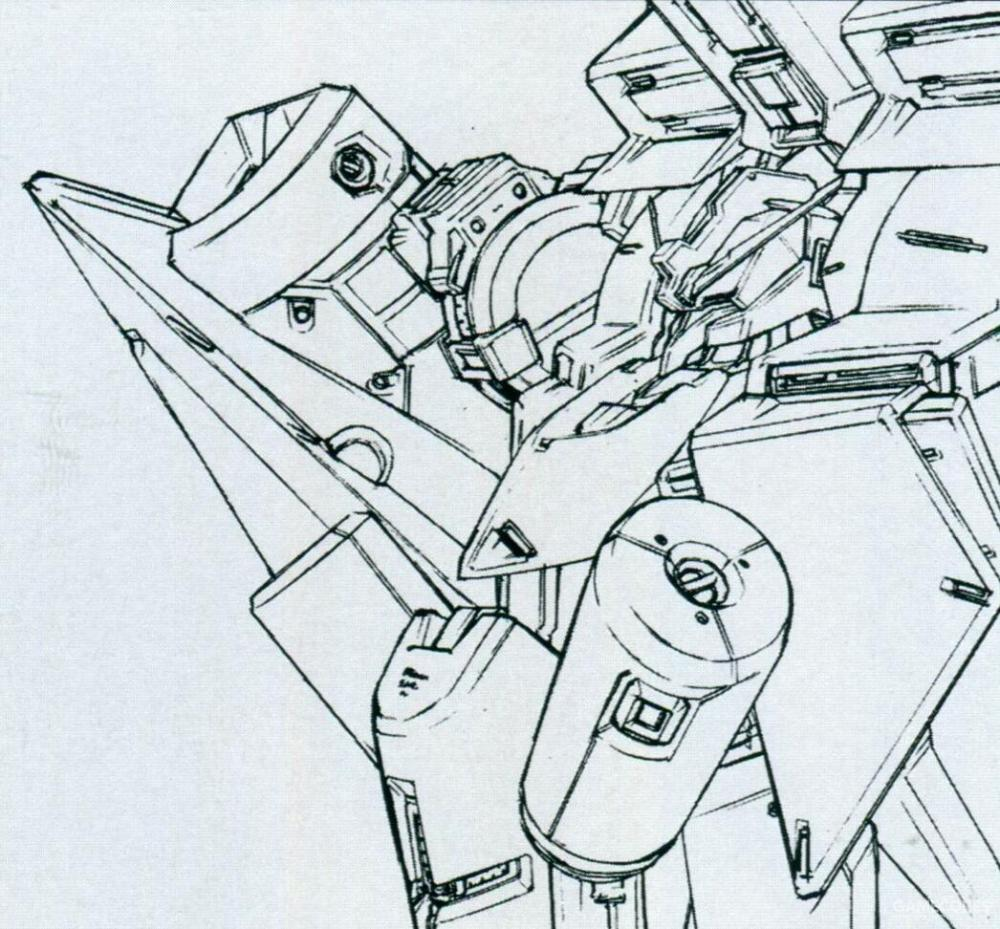 躯干两侧的胶囊状物体为高性能炸弹。能以掠袭形式在目标上空投下炸弹破坏目标。当然,以泰坦斯的风格,该炸弹的装药自然也有化学武器选项。