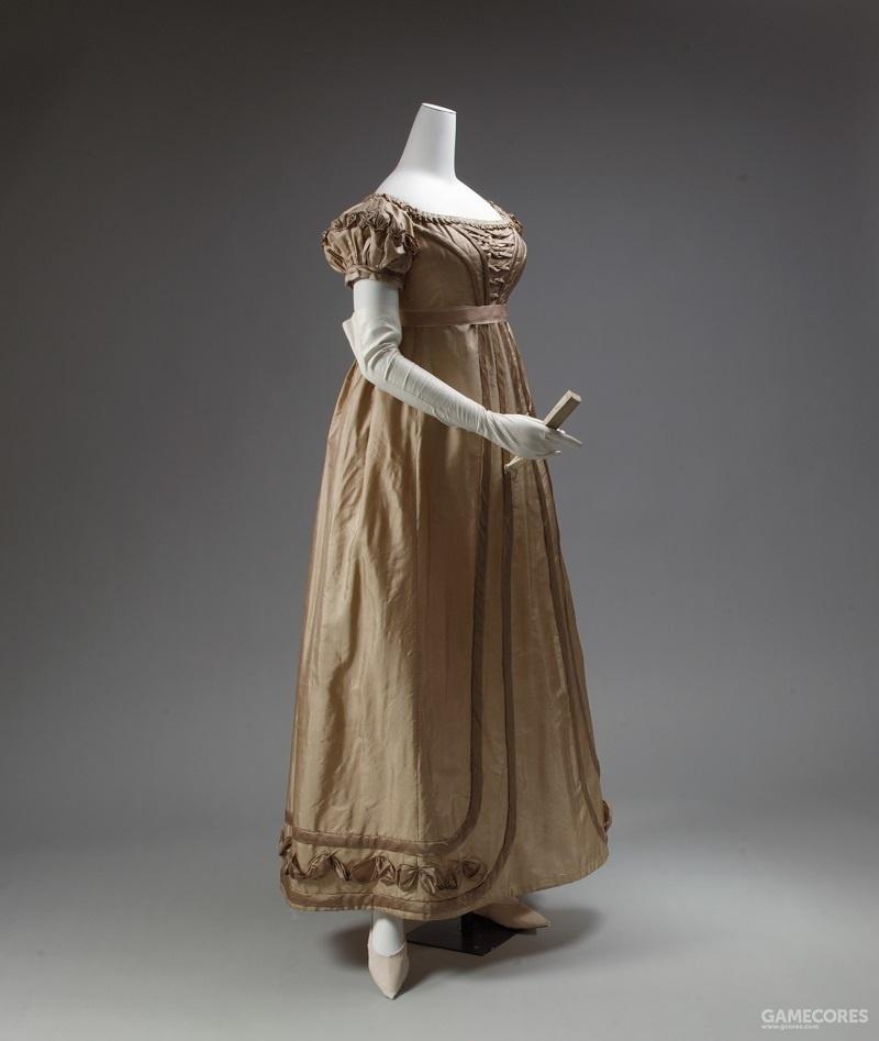 Dress, 1819–23 (MET) 裙子曾经缩短到露出脚踝