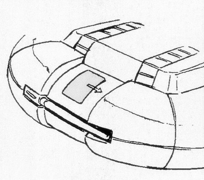 变形为MA形态时,头部侧转90度,装甲则向两侧展开露出中间的传感器结构。