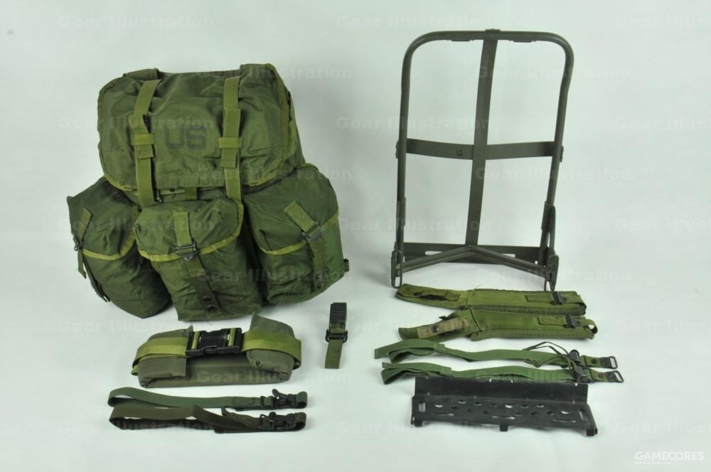 中号背囊、背架以及背架附件