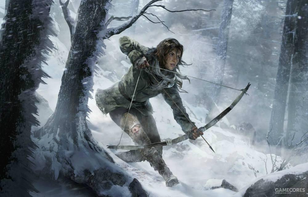 哦,劳拉这次并没有捡起双枪,她依然是个拿着弓箭的生存专家