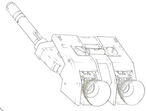 其背包部分,除了光束军刀基座减少到一个外,作为主体的火箭推进器规格和RX-78相同。因此,其背包推力维持了RX-78相同水平